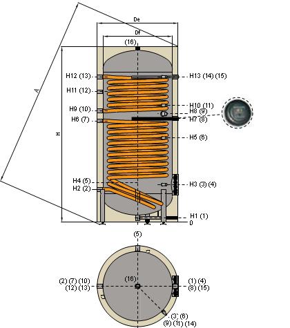 Бойлер косвенного нагрева Cordivari BOLLY2 XSB/XSC VT